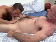 Old Bear Daddy Gets Young College Dick Surprise Fuck As Bday Gift