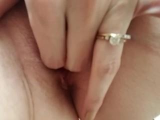 Closeup Finger Fucking My Pussy