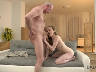 DADDY4K. Tricky dad seduces and fucks cutie while son left them alone