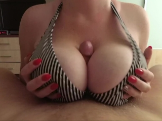I love big tits fuck and cum on tits - POV