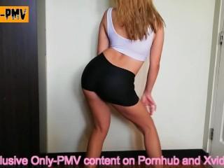 PMV Taylor Swift - Shake It Off | Teen in yoga panties dances after class