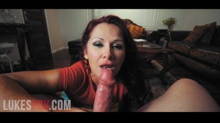 Massive Tits Milf Gives POV Blowjob & Takes a Huge Load of Cum in Her Mouth Pussy masturbate