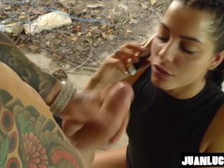 Juan Lucho & Bad Lady Outdoor Fuck
