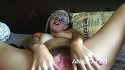 MY MORNING MASTURBATION----FARTING HAIRY PUSSY))