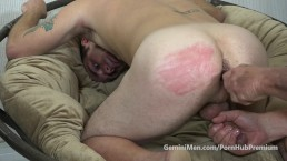 GM Hunky Str8t Guy Gets Spanked, Toy Stuffed & Edged & Wanked!