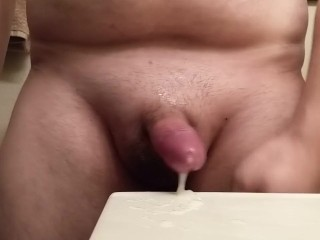lubed up jerk with cum lube double cum shot