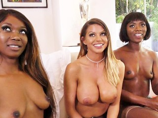 Interracial Lesbian Anal Sex With Ana Foxxx, Brooklyn Chase, Skyler Nicole