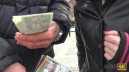 HUNT4K. Boy unwillingly let cute GF have sex for money with stranger