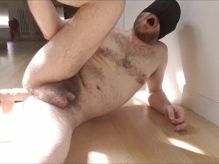 Moaning straight guy fucked balls deep by sex machine