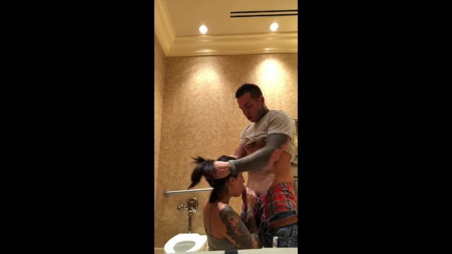 Period drama porn - Fucking tia on bby changing table in public restroom while shes on period