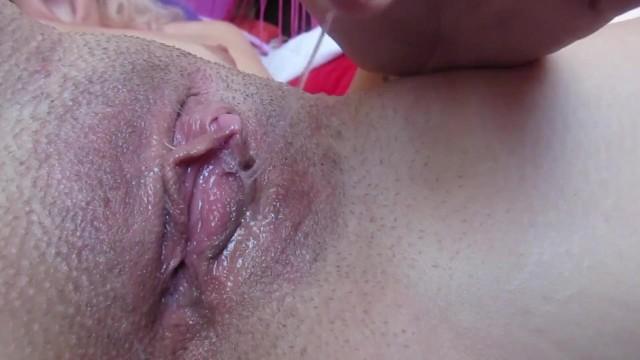 Clitoris close up slutload My dripping wet big clit pussy after huge orgasm