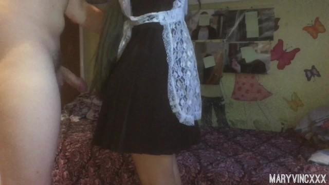 Возбуждённая школьница сосёт член и занимается сексом после школы - MaryVincXXX