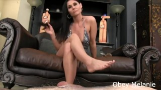 Goddess Femdom Footjob & Ruins his Orgasm  footjob femdom