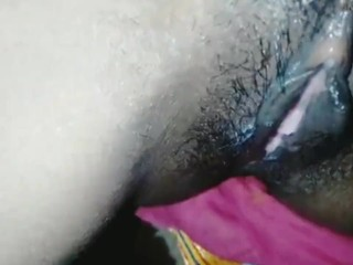 Husband licking wifes pussy...