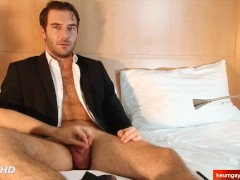 My sexy str8 banker serviced in a gay porn in spite of him