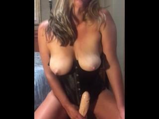 Dirty White Slut Rides and Soaks Big Cock