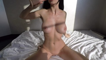 Young girl fucks herself with a big toy - Mini Diva