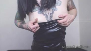 Shiny Dress GOON Training - Edging Addict Mind Fuck