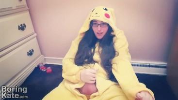 Fapping in My Pikachu Kigurumi