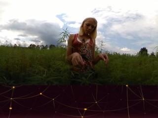 nikita - Topless Cannabis Leaf Babe VIT