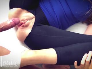 Fuck her hard - Ripped yoga pants and ankle socks (FULL SCENE) - LenaLouix