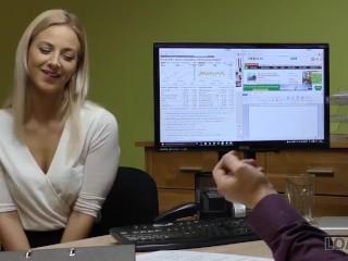 Nikita mirzani - LOAN4K. Blonde lassie gives herself to agent in office in loan porn