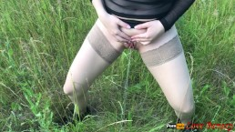 Pissing after Anal Sex on Nature