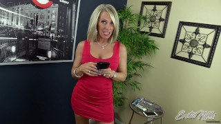 Erotic Nikki - Busty StepMom Jerks Off Stepson After Seeing His Phone Pics
