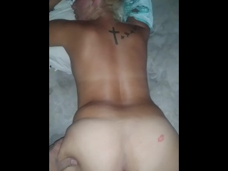 Fucking the wife in the bedroom from behind