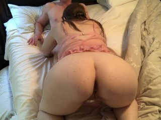 Stepmom Sneaks blowjob and gets facial