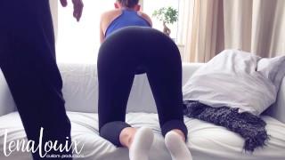 Ripped ankle and hard her yoga socks custom fuck lenalouix pants pants pov