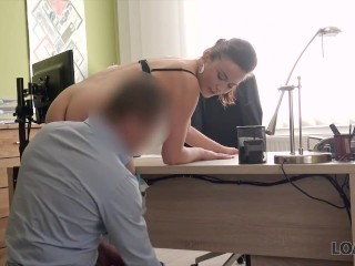 Loan4k girl pays with anal sex to get her financial problem - 1 part 1