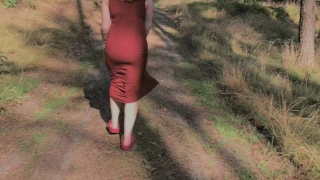 Big her in showing redhead pissing forest playful boobs and redhead close