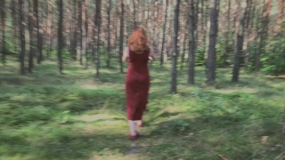 Playful Redhead Pissing in Forest and Showing her Big Boobs Jav uncensored