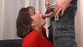Short haired busty brunette milf has her pussy pounded in bed Rockwell mouth
