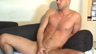 innocent handsome straight dude shows to us his huge cock in a gay porn Tranny jerking