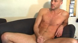 innocent handsome straight dude shows to us his huge cock in a gay porn