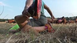 Süße Joggerin im Wald gefickt und komplett vollgespritzt - Riesen Ladung