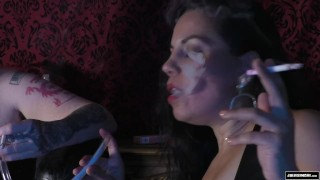 Femdom Smoking BreathPlay Alexa Complex Julie Simone Latex  smoking mistress breath play fetish breath play breath play smoking double domination alexa complex nyc redhead femdom chubby kink smoking latex mistress julie female domination smoking fetish coerced smoking fake tits smoking domination
