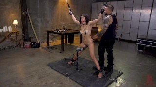 Anal Whore Kendra Spade Tied in Bondage, Made to Fuck Enormous Dick!