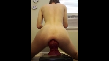 Young fem boy takes giant BD horse in ass and shows off his tight asshole