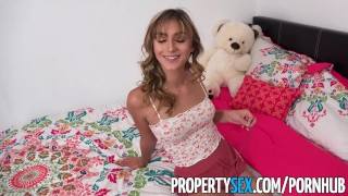 PropertySex - Insane hot nympho roommate almost kicked out  doggy style raven teen reverse cowgirl blonde blowjob cumshot small tits pov propertysex missionary young cock sucking czech bubble butt