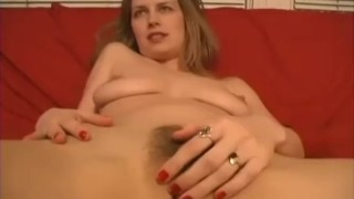 Naturally busty amateur blonde takes a big cock in her fuck hole