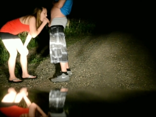 Fucked in the Road at Night