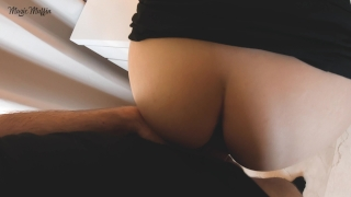 After work blowjob turns into hot pov fuck on the table