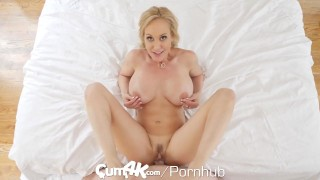 CUM4K Best Creampie fuck with Brandi Love Brunette doggy