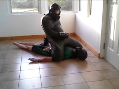 frogman escapes bondage and attacks his enemy