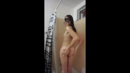 Sexy Teen enjoying shower
