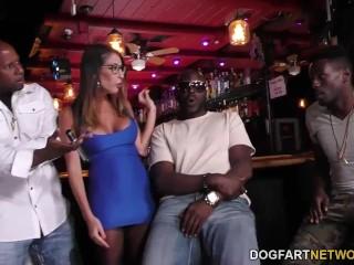 Dava Foxx Interracial Gangbang