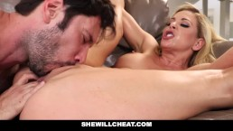 SheWillCheat – Cheating Wife Gags on Cock